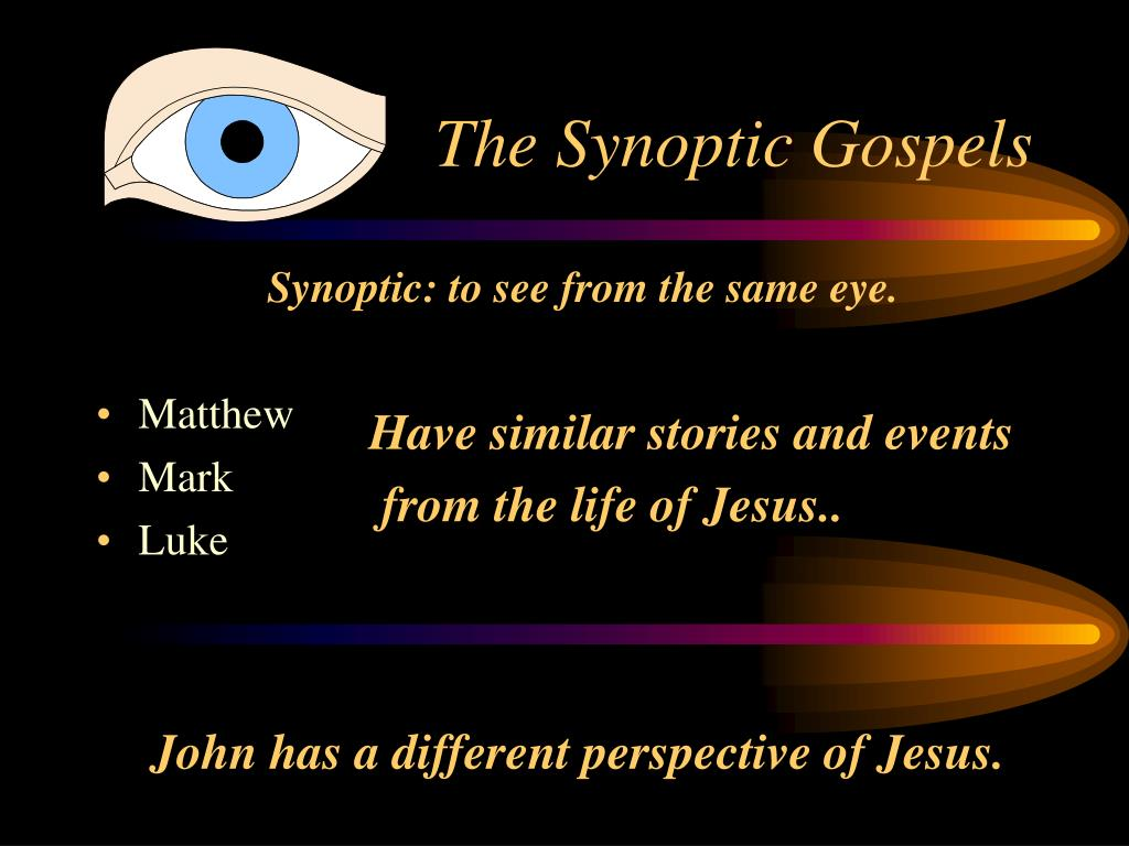 Synoptic: to see from the same eye.