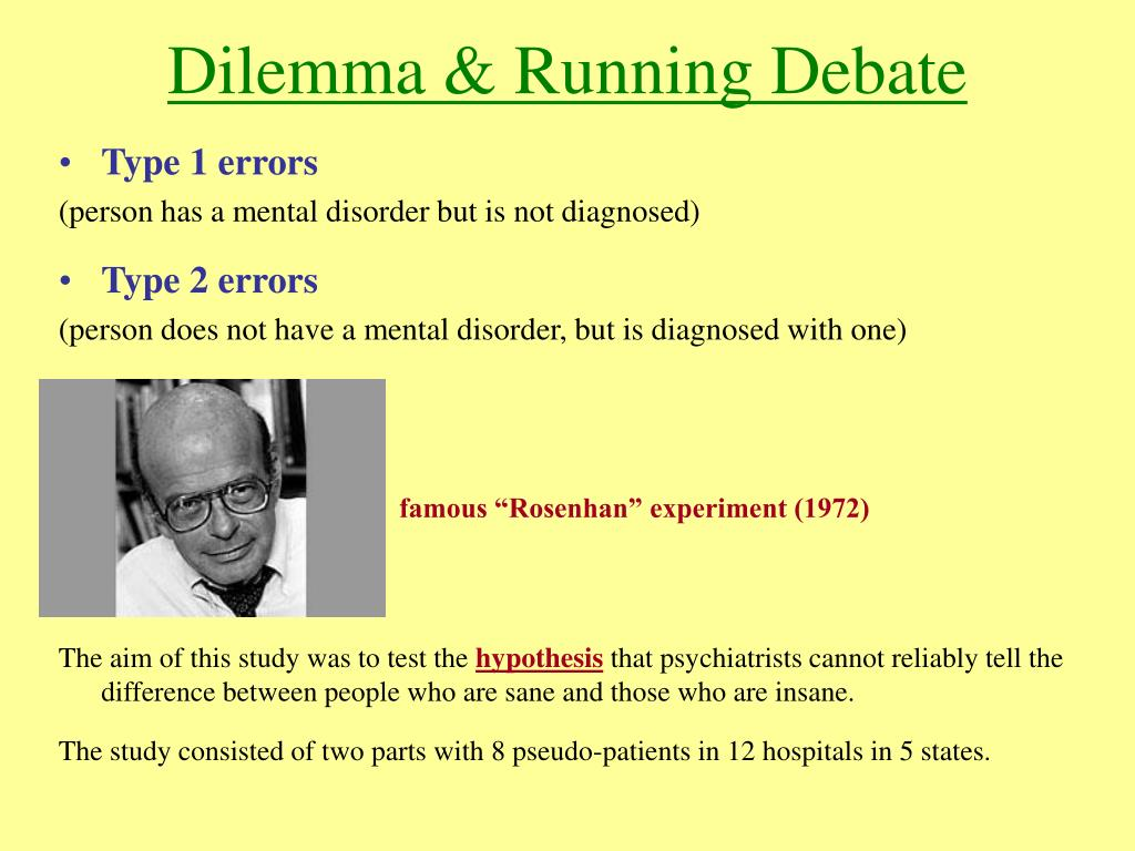 Dilemma & Running Debate