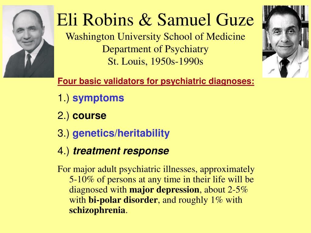 Eli Robins & Samuel Guze