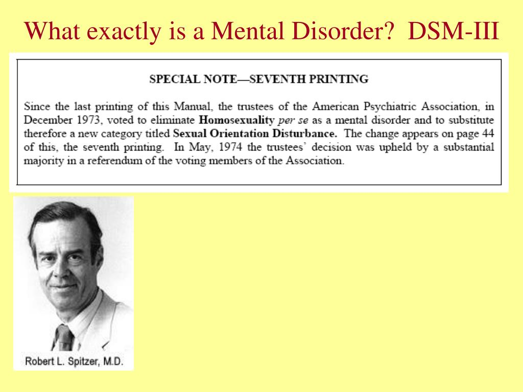 What exactly is a Mental Disorder?  DSM-III
