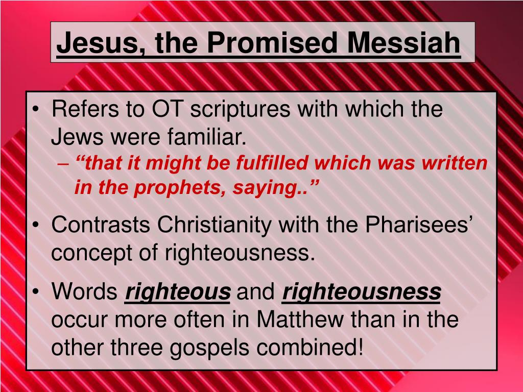 Jesus, the Promised Messiah