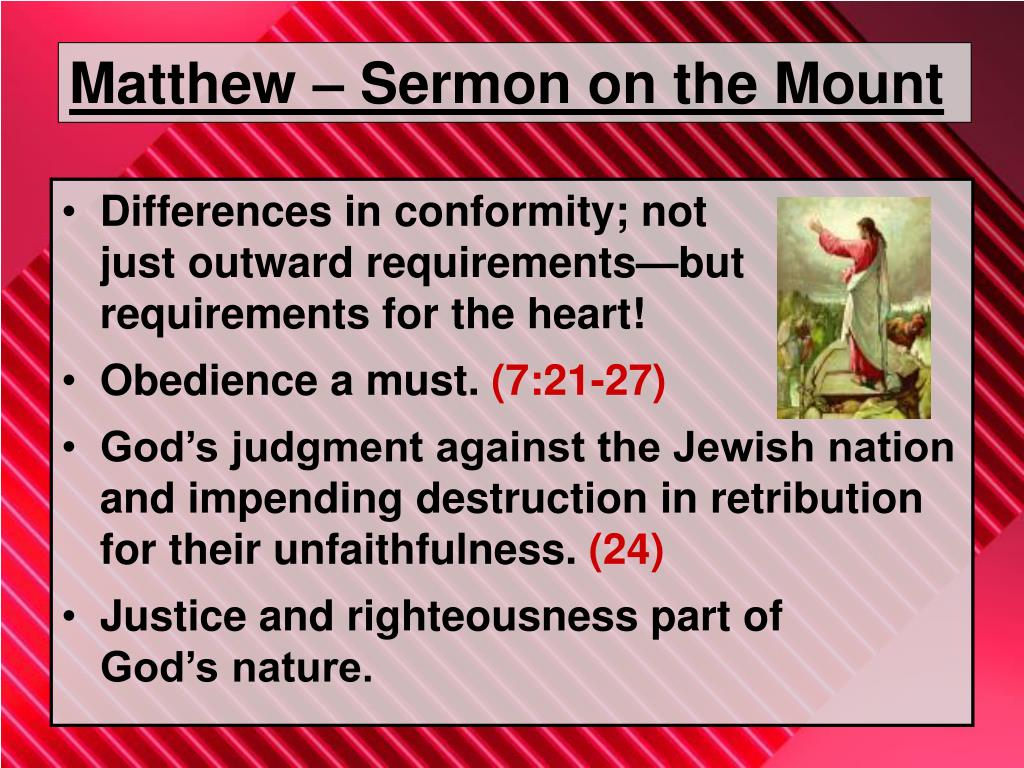 Matthew – Sermon on the Mount