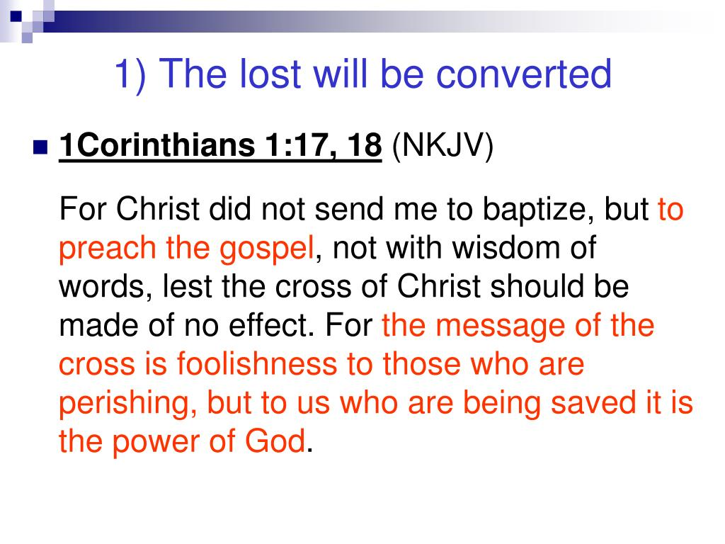 1) The lost will be converted