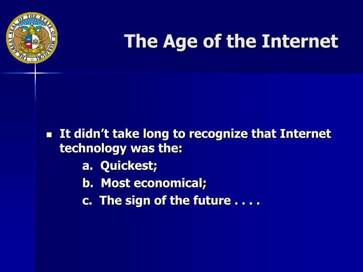 The Age of the Internet