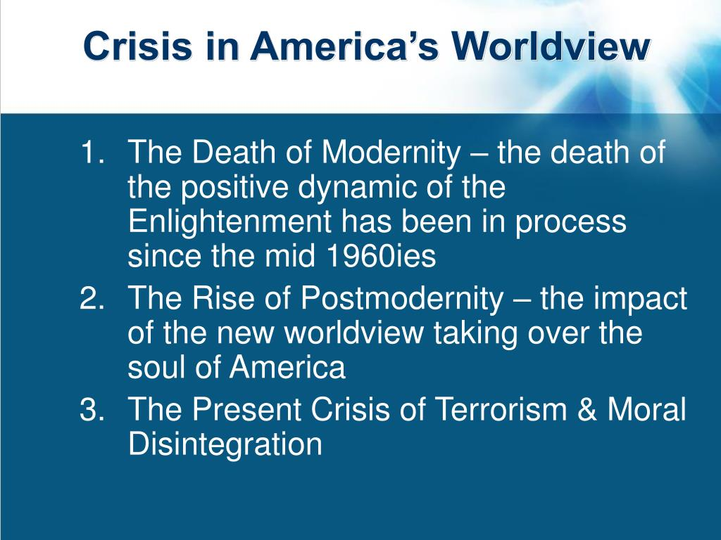 Crisis in America's Worldview
