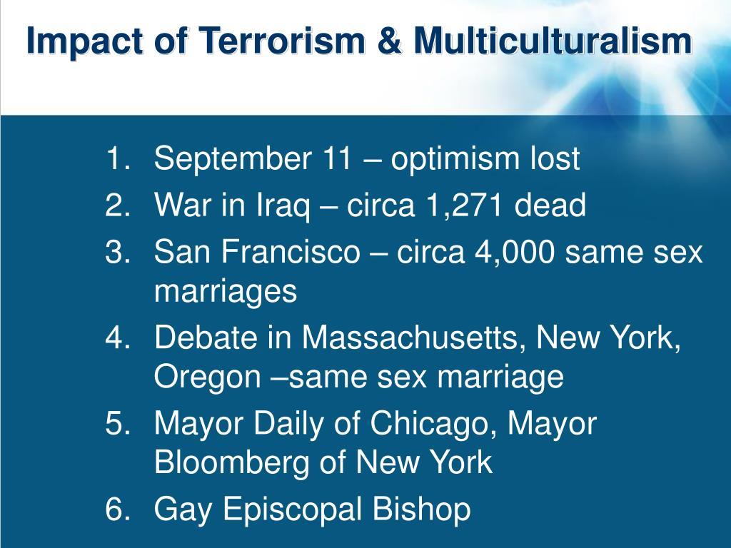 Impact of Terrorism & Multiculturalism