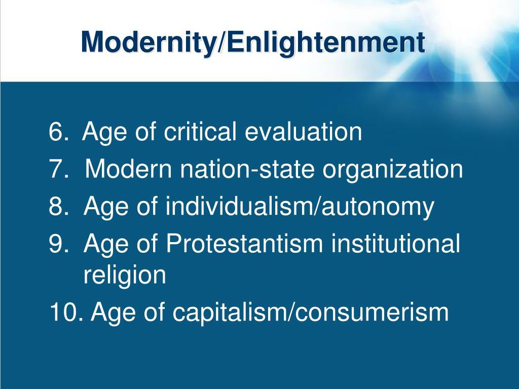 Modernity/Enlightenment