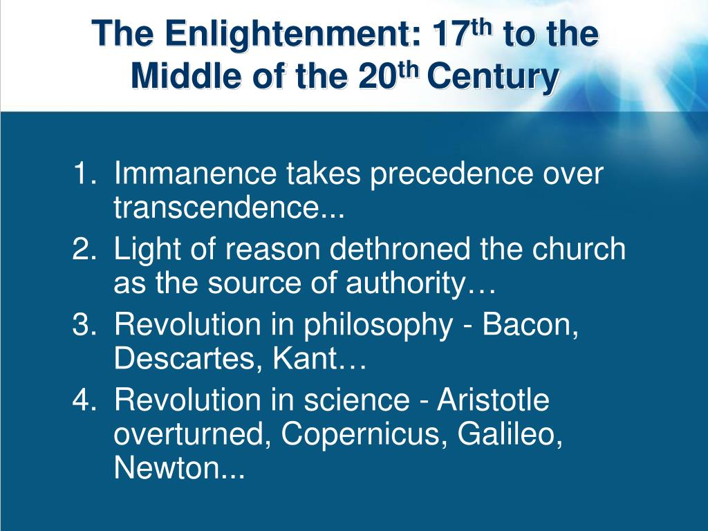 The Enlightenment: 17
