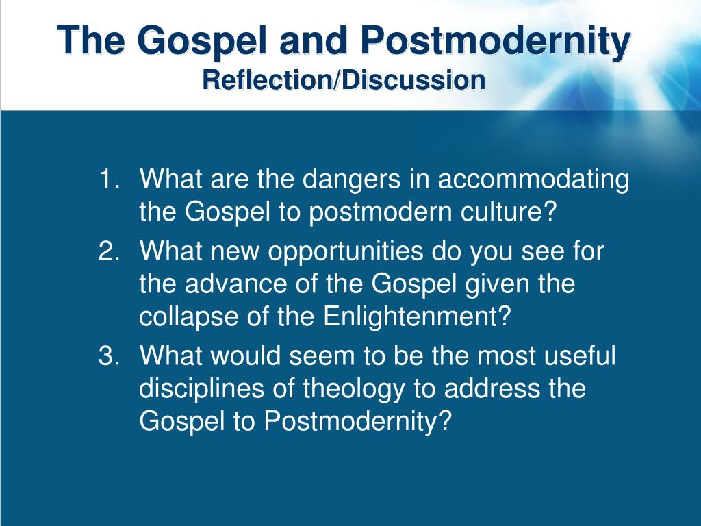 The Gospel and Postmodernity