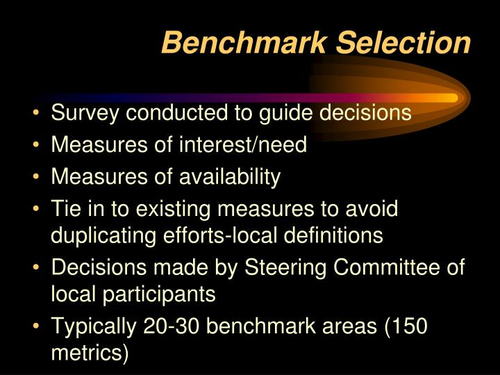 Benchmark Selection