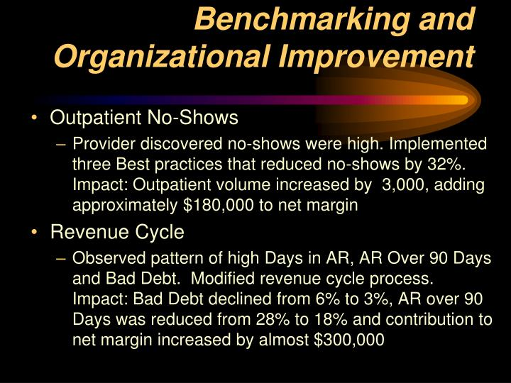 Benchmarking and Organizational Improvement