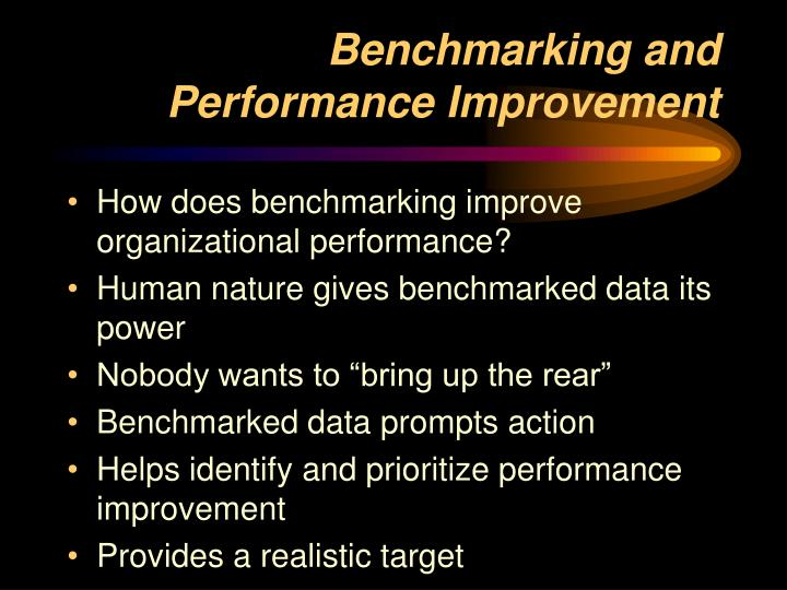 Benchmarking and Performance Improvement