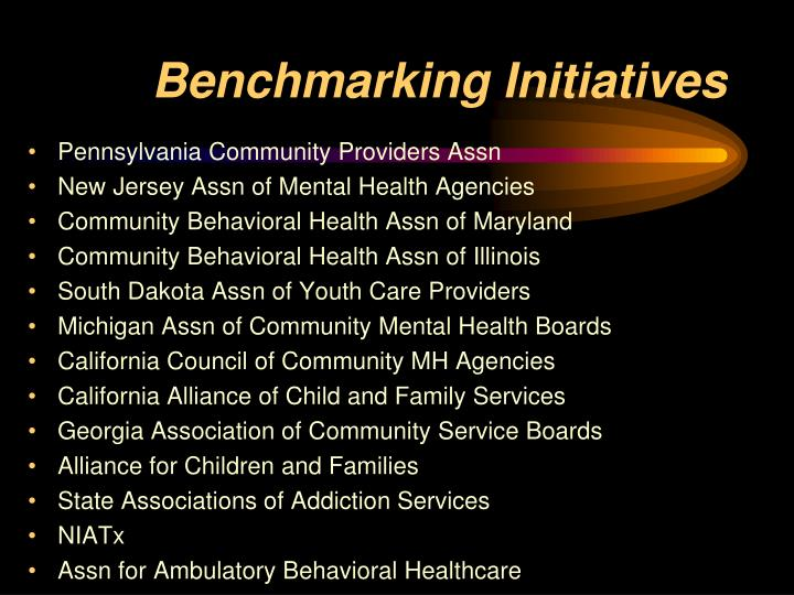 Benchmarking Initiatives