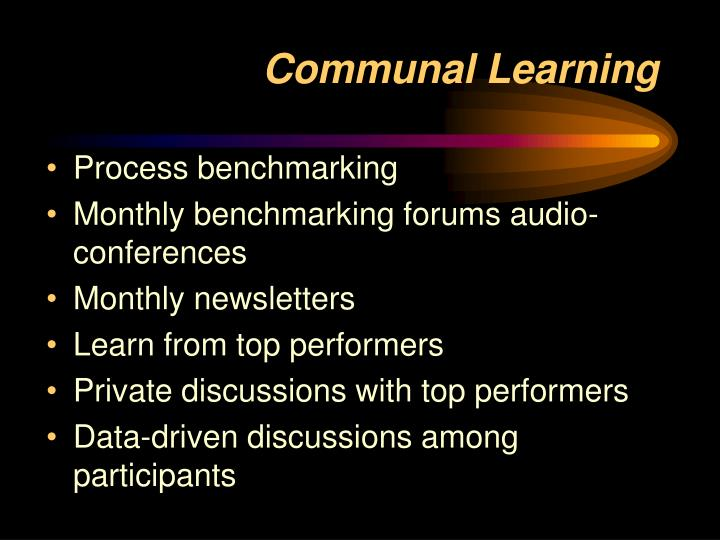 Communal Learning