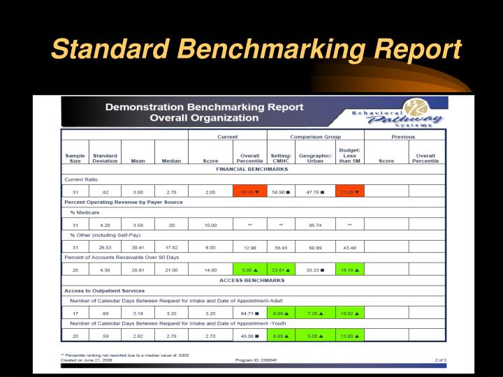Standard Benchmarking Report