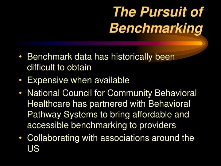 The Pursuit of Benchmarking