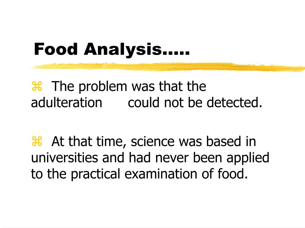 Food Analysis…..