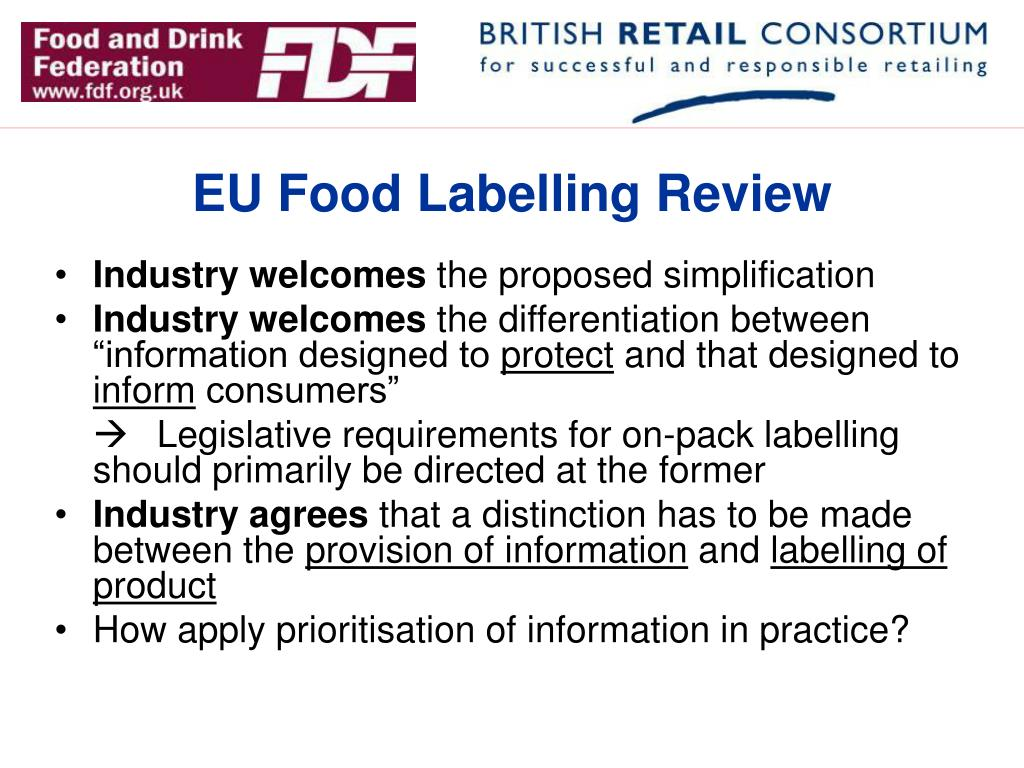 EU Food Labelling Review