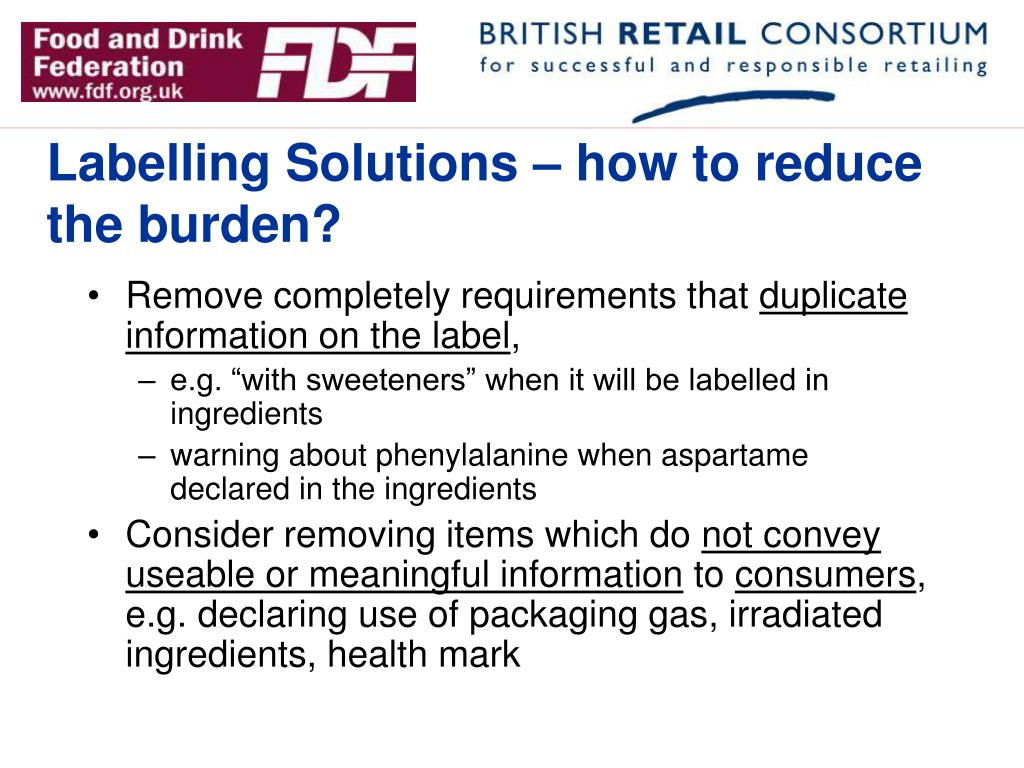 Labelling Solutions – how to reduce the burden?