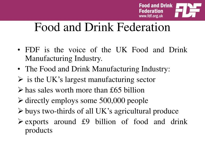 Food and drink federation