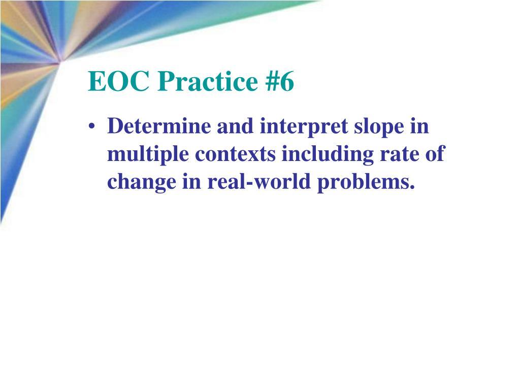 EOC Practice #6