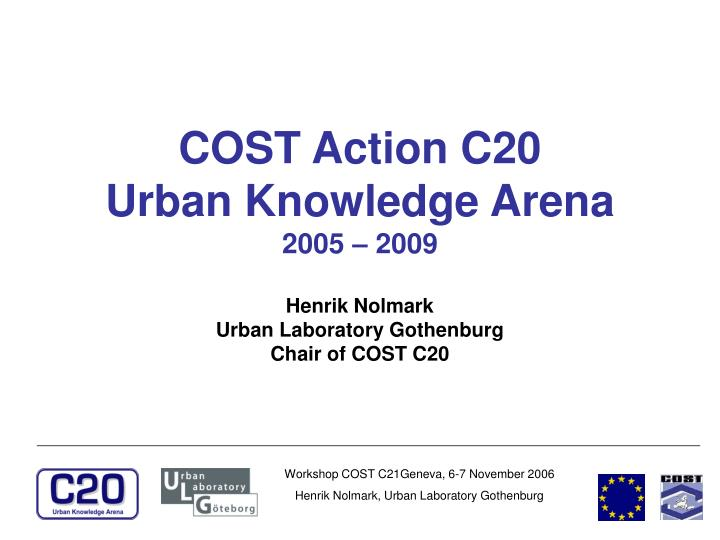 COST Action C20
