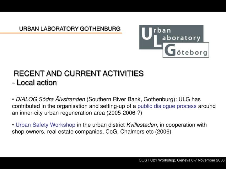 URBAN LABORATORY GOTHENBURG