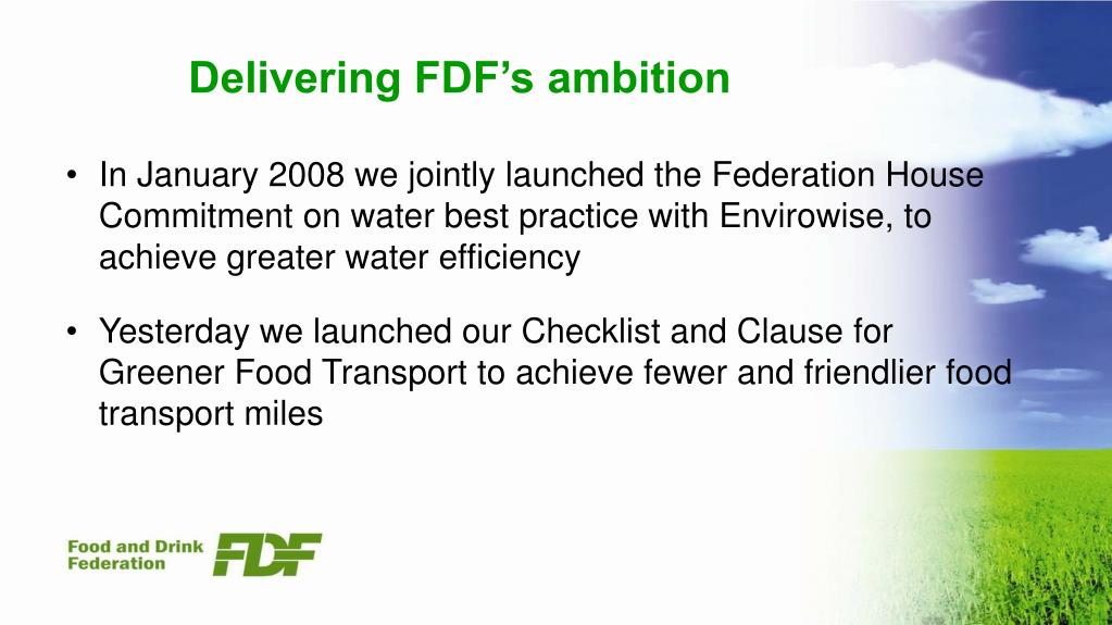 Delivering FDF's ambition