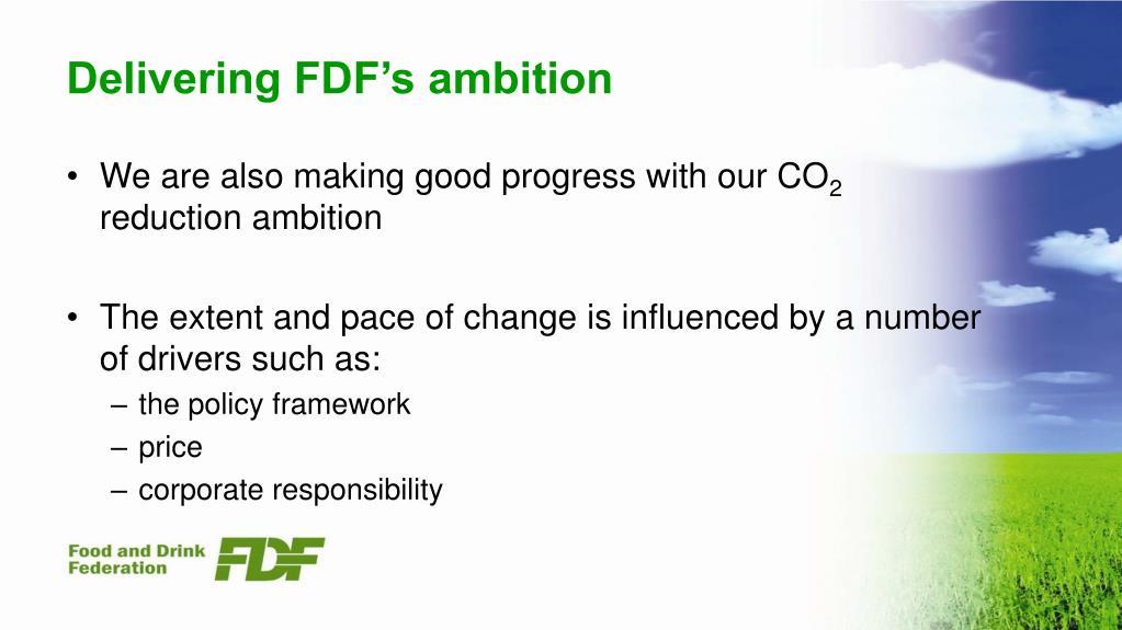 Delivering FDF's ambition