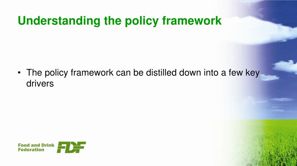 Understanding the policy framework