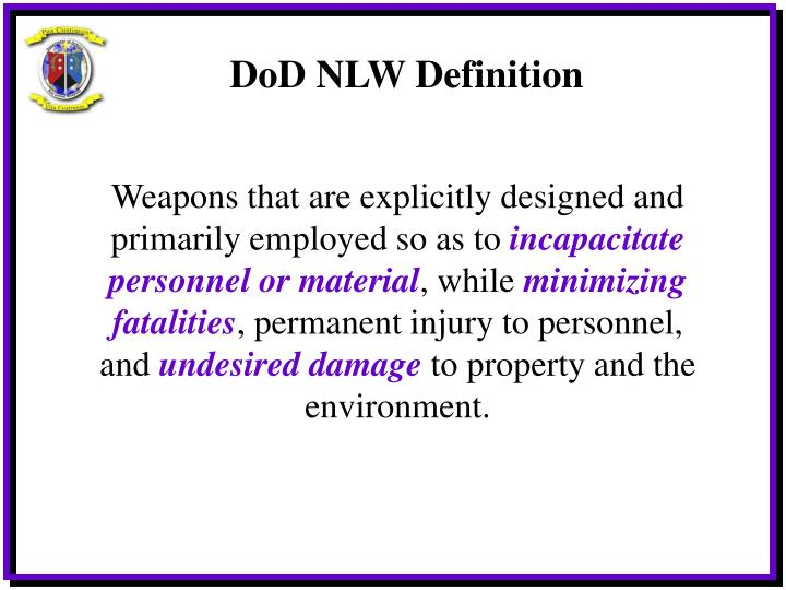 DoD NLW Definition