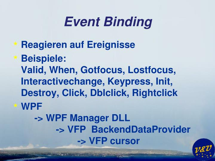 Event Binding