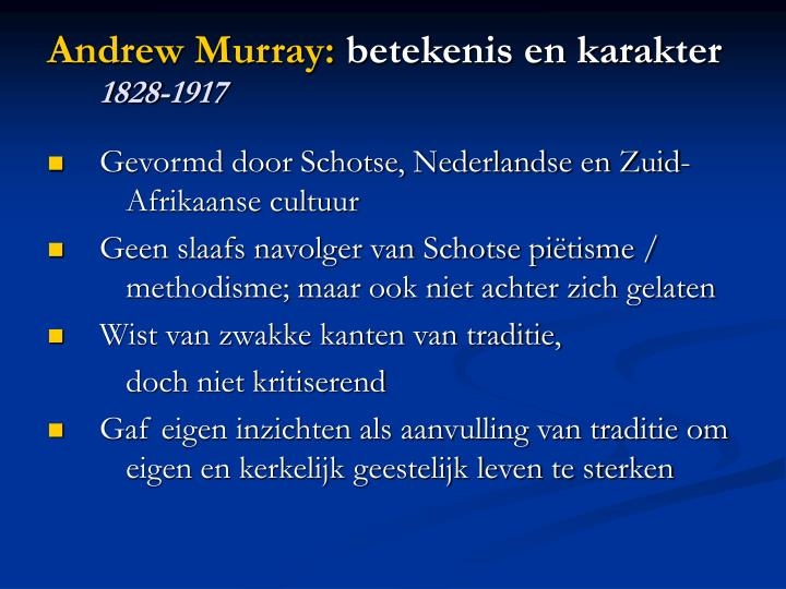 Andrew Murray: