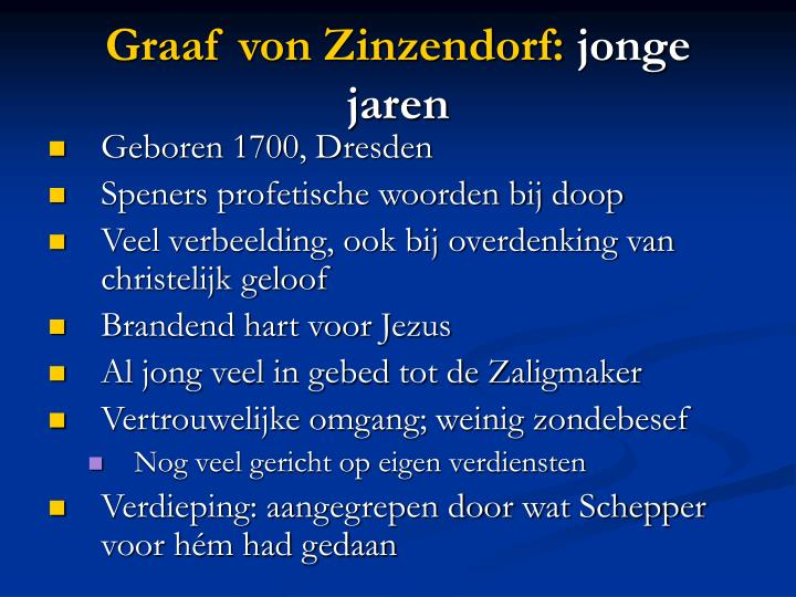 Graaf von Zinzendorf: