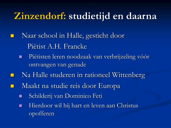 Zinzendorf: