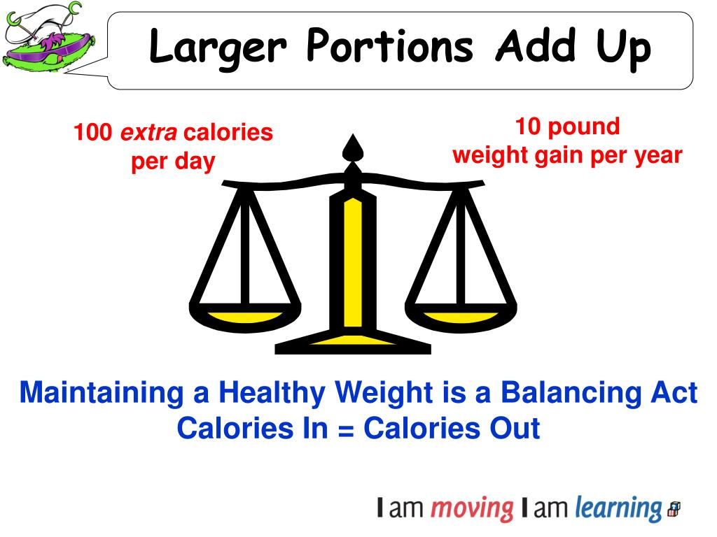 Larger Portions Add Up