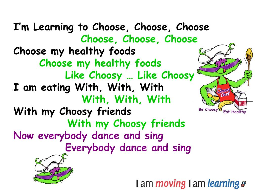 I'm Learning to Choose, Choose, Choose