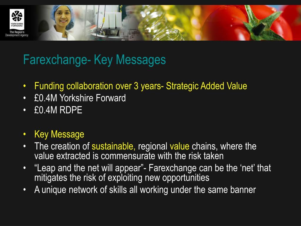 Farexchange- Key Messages