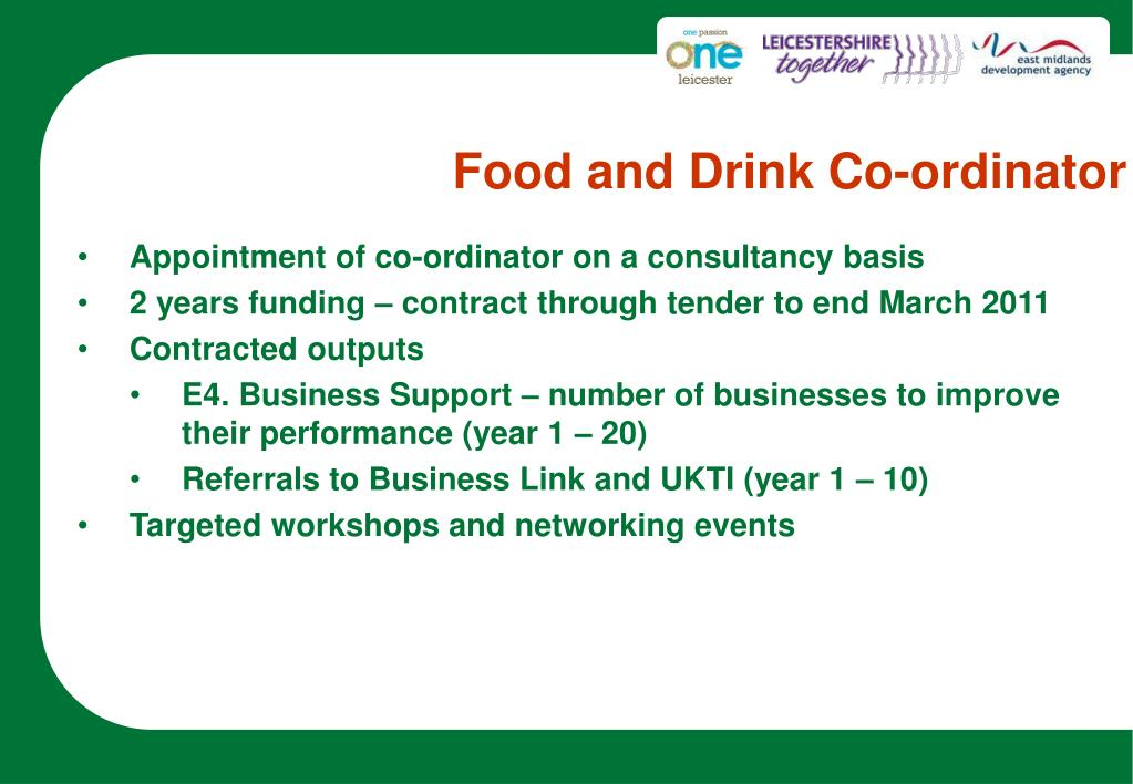 Food and Drink Co-ordinator