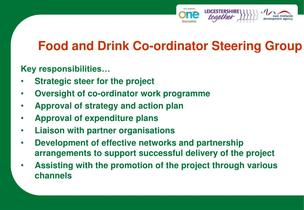 Food and Drink Co-ordinator Steering Group