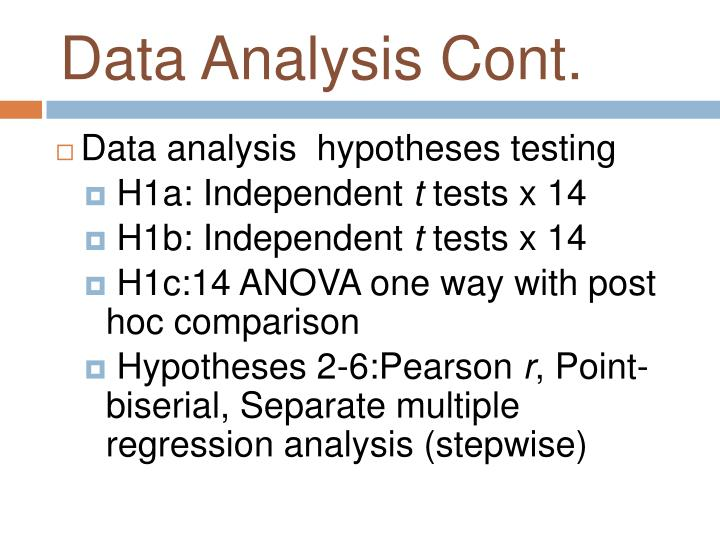 Data Analysis Cont.