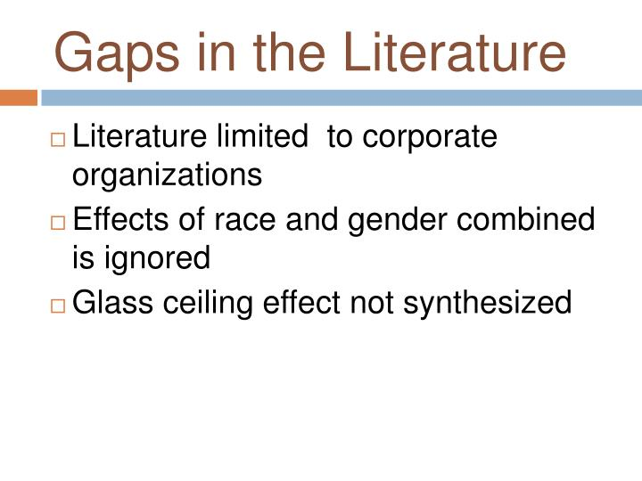 Gaps in the Literature
