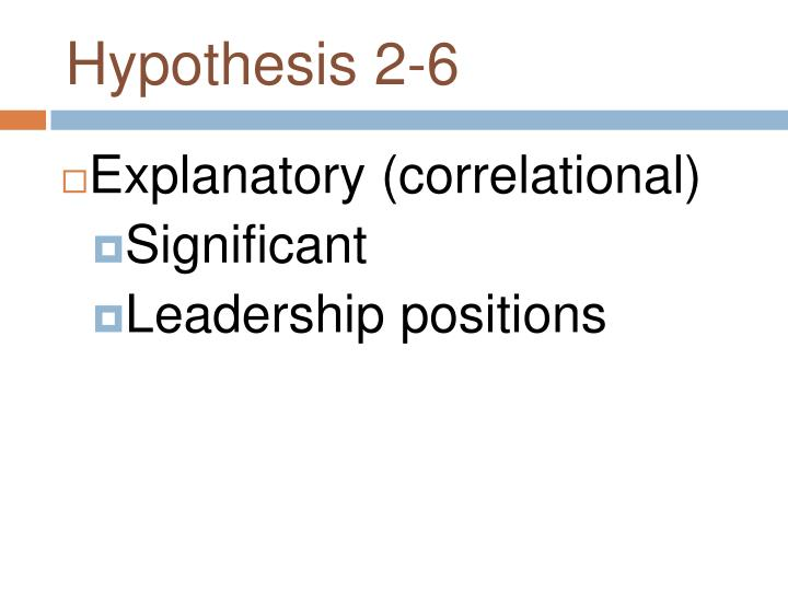 Hypothesis 2-6