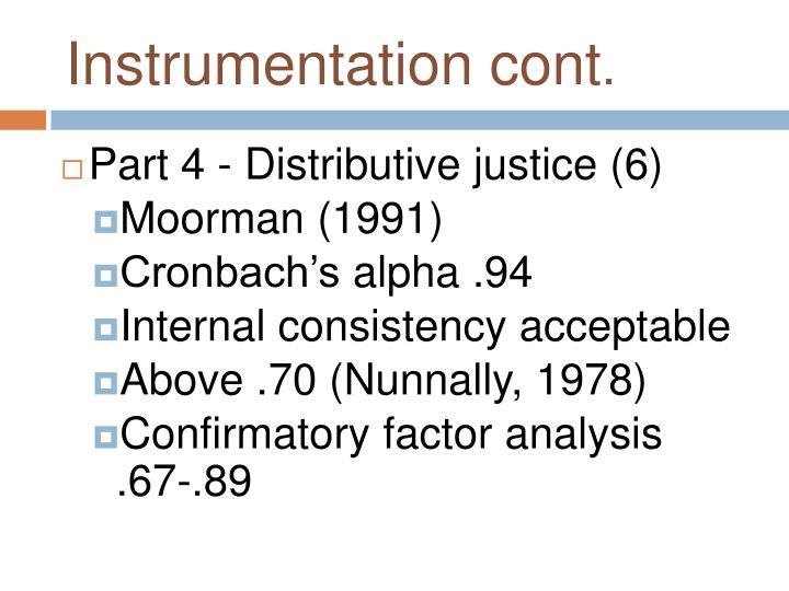 Instrumentation cont
