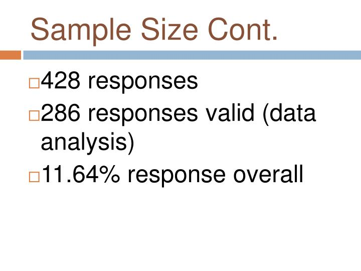Sample Size Cont.
