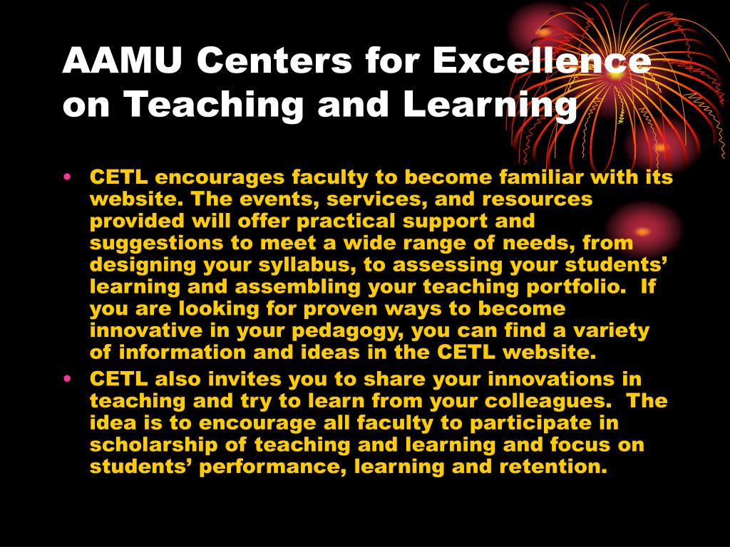 AAMU Centers for Excellence on Teaching and Learning