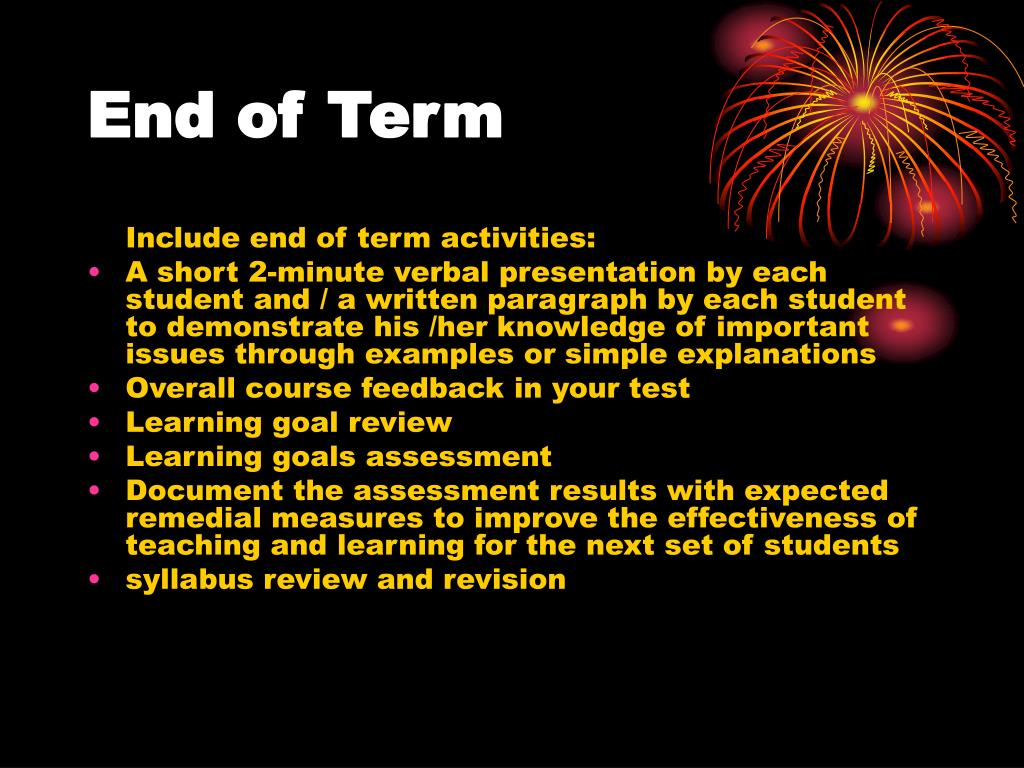 End of Term
