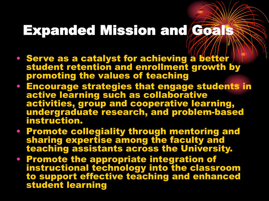 Expanded Mission and Goals
