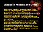 expanded mission and goals6