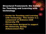 structural framework the center for teaching and learning with technology